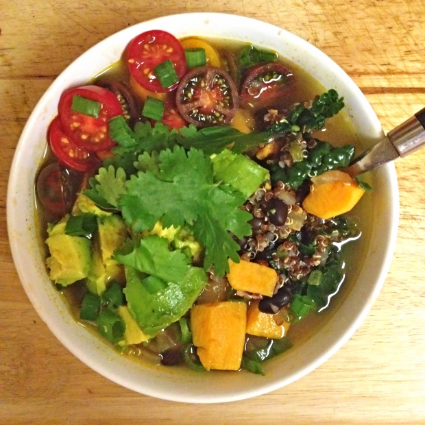 Sweet Potato, Black Bean & Quinoa Stew